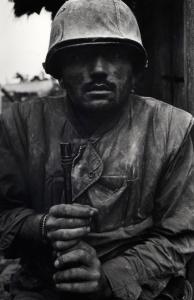 Shell-shocked US Marine, Vietnam, Hue, 1968. Photograph: Don McCullin.
